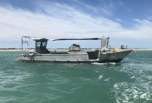 Pearl Oyster Cleaning Boat near Broome