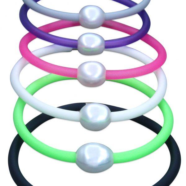 Coloured Neoprene Bracelet with Australian Pearl