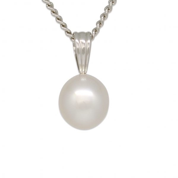 Silver 10mm Pearl Pendant