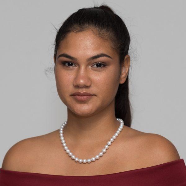Model wearing Australian Pearl Strand