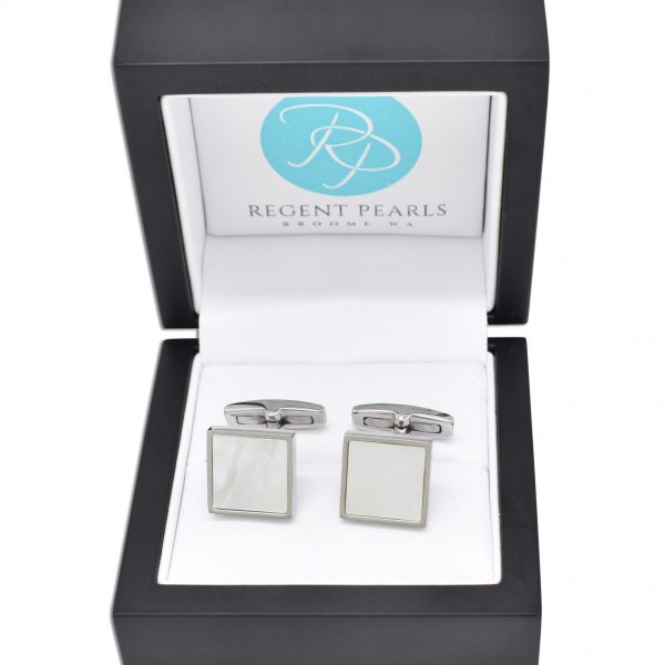 Mother of Pearl Cufflinks in display box
