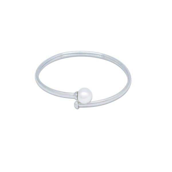Australian Pearl and Sterling Silver Bangle