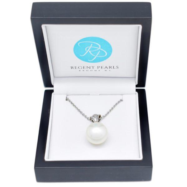 Australian Pearl and Diamond Pendant in display box