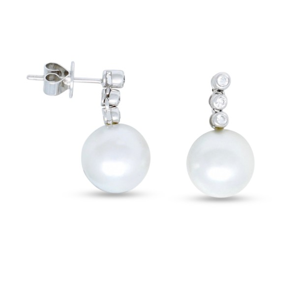 Australian Pearl and Diamond Earrings