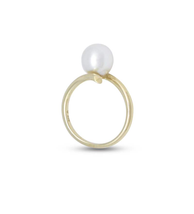 Yellow Gold 8mm Pearl Ring