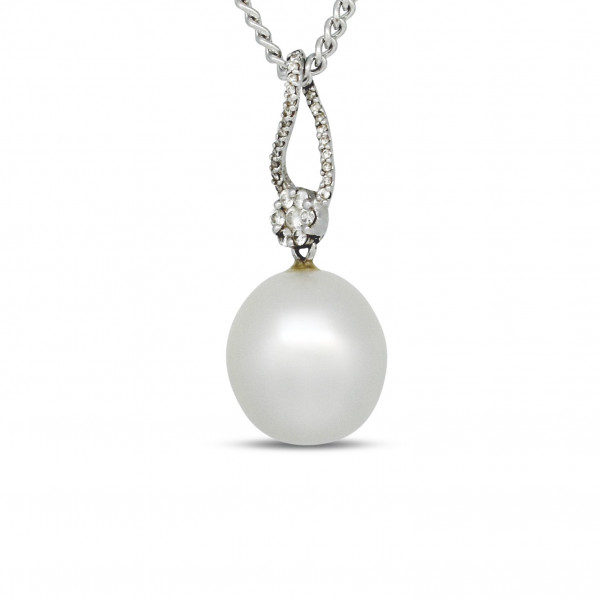 Australian Pearl and Diamond Pendant