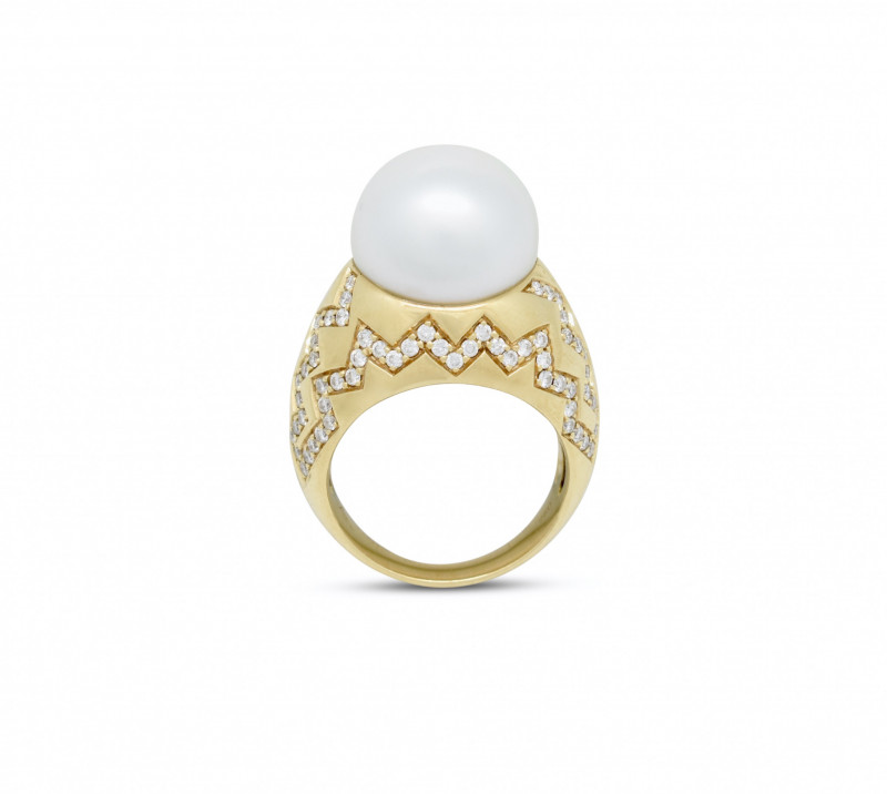 Australian Pearl and Diamond Ring