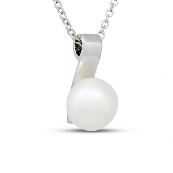 Silver 11mm Pearl Pendant