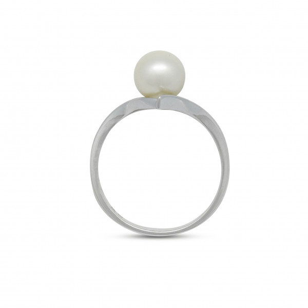 Silver 8mm Pearl Ring