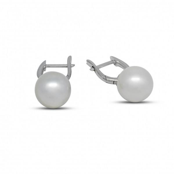 White Gold Huggie Earrings