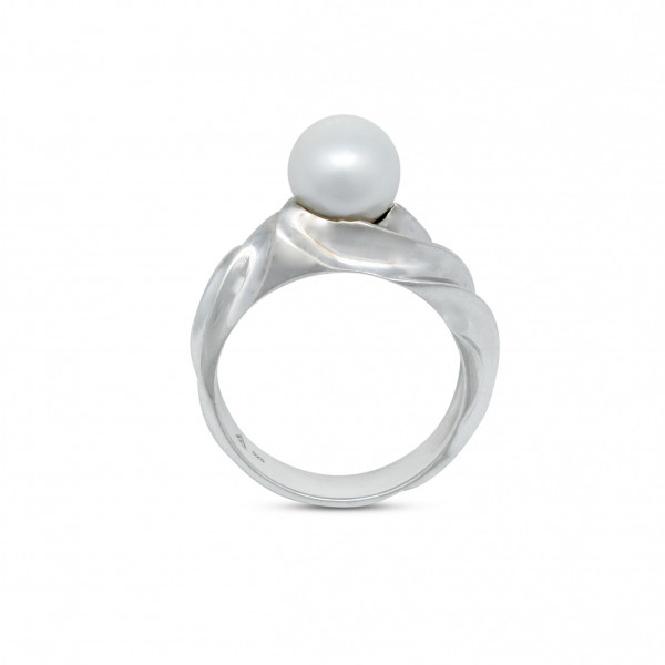 Silver 8.5mm Pearl Ring