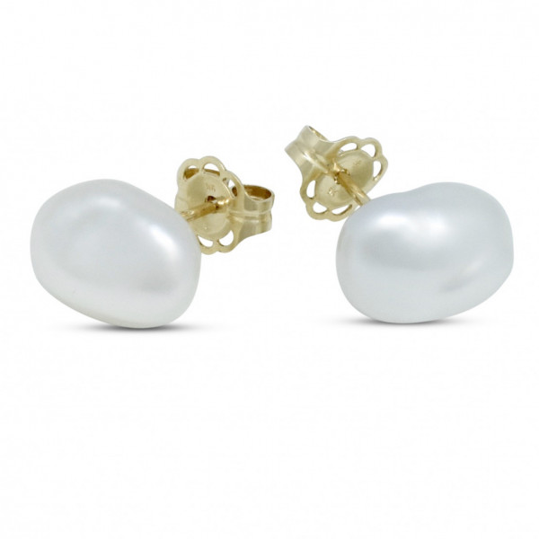 Keshi Pearl Stud Earrings