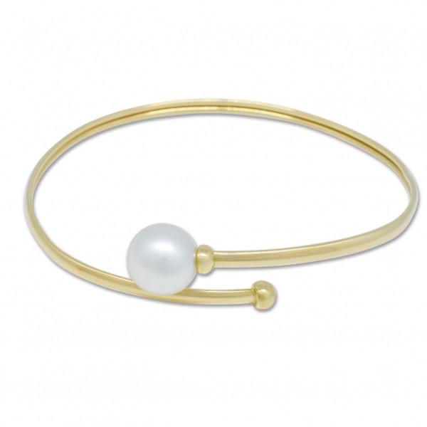 Gold and Pearl Bangle